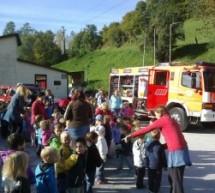 Vaja iz požarne varnosti in obisk gasilcev v Vrtcu Pikapolonica
