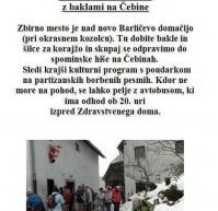 7. tradicionalni pohod z baklami na Čebine