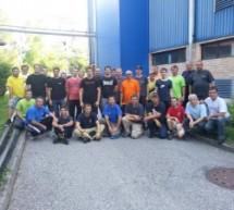 Gasilska akcija – prenos dveh 90 metrskih cevi za trboveljski toplovod