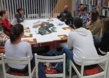 Novembrska Literarni krožek in Buklžur v Knjižnici Toneta Seliškarja Trbovlje