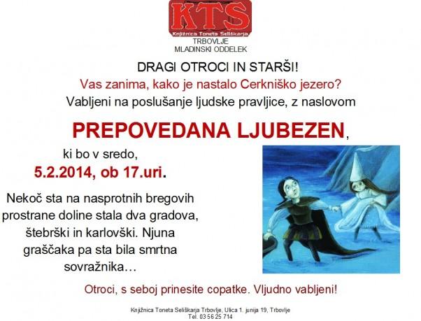KTS Trbovlje, ljudska pravljična ura, Prepovedana ljubezen, 5.2.2014