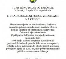 8. tradicionalni pohod z baklami na Čebine