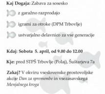 Dan za spremembe – Serbus, sosed – Garažna razprodaja