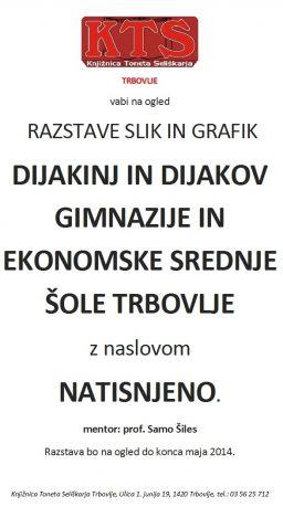KTS TRBOVLJE, Likovna razstava GESŠ, maj 2014