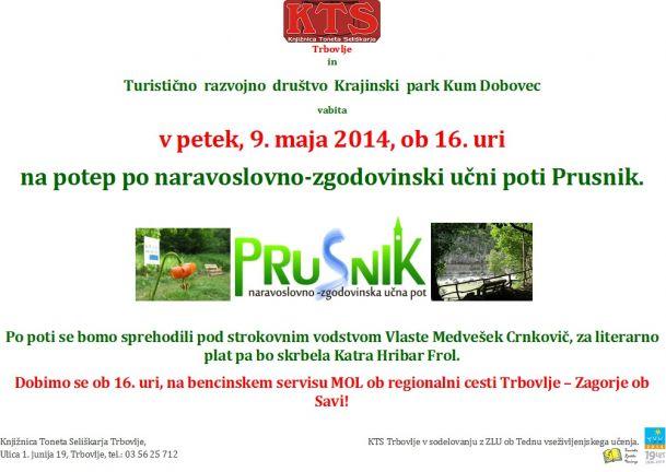 KTS Trbovlje, Učna pot po Prusniku, 9.5.2014
