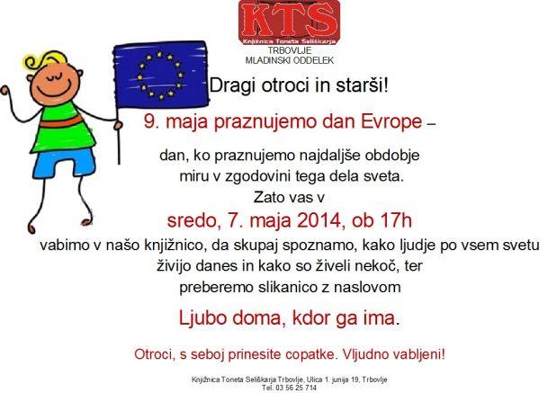 KTS Trbovlje, pravljična ura, Ljubo doma, kdor ga ima, 7.5.2014