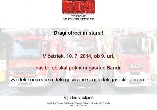 KTS Trbovlje, poletni gost, Sandi-gasilec, 10.7.2014