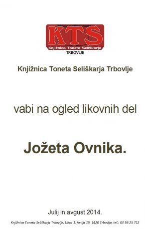 KTS Trbovlje, razstava v galeriji, Jože Ovnik, julij in avgust, 2014