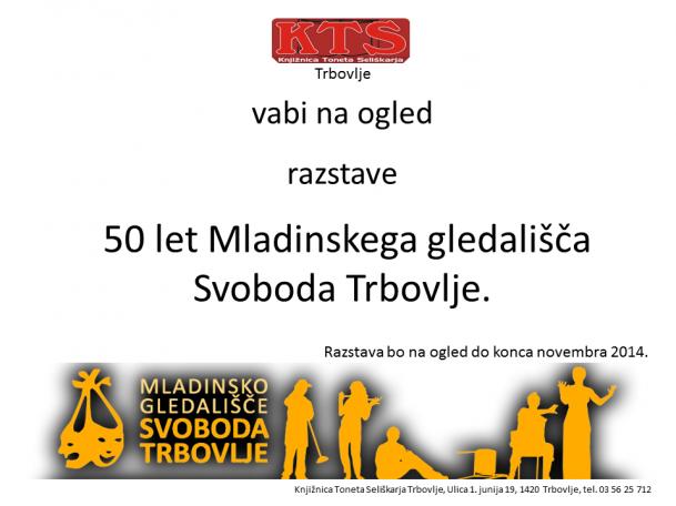 KTS Trbovlje, razstava, Mladinsko gledališče Svoboda Trbovlje, november 2014