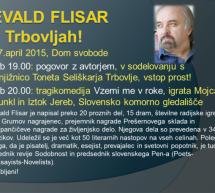 V Trbovlje prihaja Evald Flisar