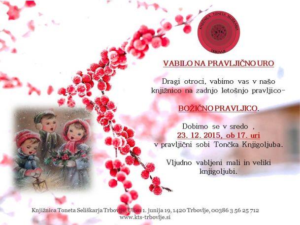KTS Trbovlje, Pravljična ura, Božična pravljica, 23.12.2015