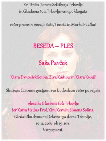 KTS Trbovlje, Beseda - ples 2016, plakat