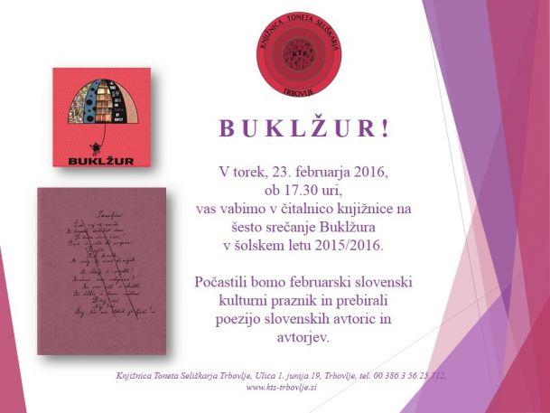 KTS Trbovlje, Buklžur, 23.2.2016