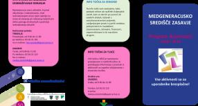 Program dejavnosti v medgeneracijskem središču Zasavje – junij 2016