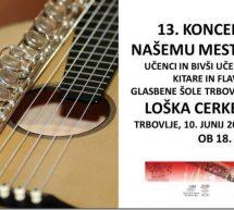 Koncert učencev in bivših učencev GŠ Trbovlje v Loški cerkvi