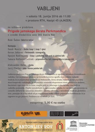 plakat senčne lutke - Trbovlje - junij 2016