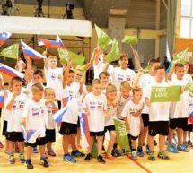 Rokometni reprezentanci Slovenije in Tunizije v Dvorani Polaj