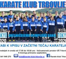 Karate klub Trbovlje vpisuje