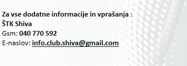 Športno terapevtski klub Shiva vabi k vpisu