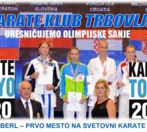 Urša Haberl na prvem mestu svetovne karate lestvice