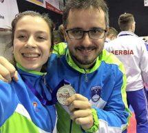 Urša Haberl in Stefan Joksimovič blestela na balkanskem prvenstvu