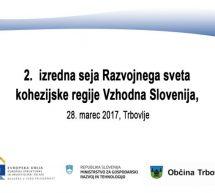 Druga izredna seja Razvojnega sveta kohezijske regije Vzhodna Slovenija