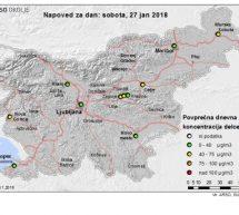 OBVESTILO: povečana onesnaženost z delci PM10