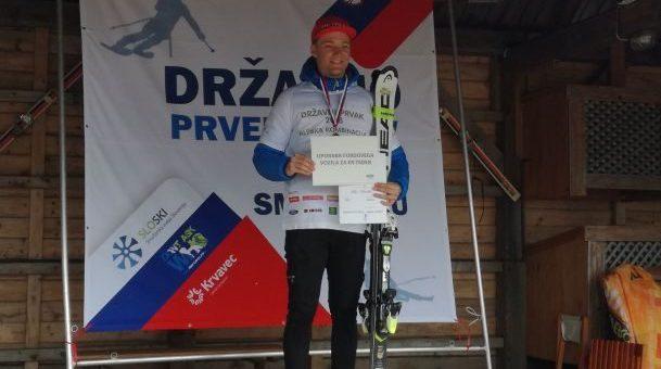 Žan Špilar ob koncu sezone dvakrat državni prvak