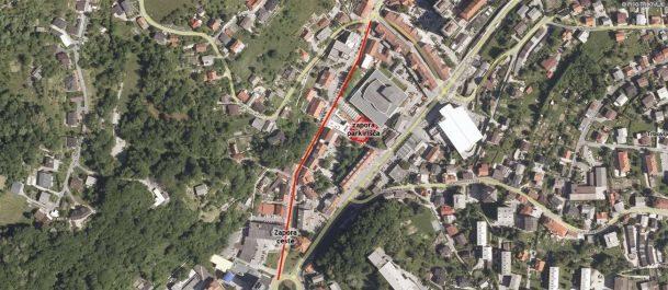 Zapore cest in parkirišča pri DDT
