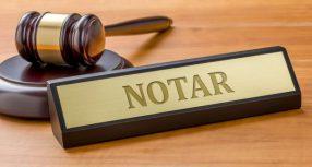 Obvestilo o začetku in kraju poslovanja notarke