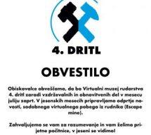 Obvestilo Virtualnega muzeja 4. dritla