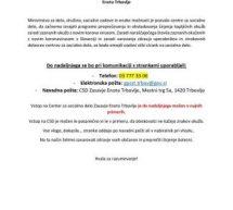 Omejitve stikov na Centru za socialno delo Zasavje enota Trbovlje