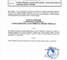 Preklic Odredbe o prepovedi kurjenja v naravnem okolju v Občini Trbovlje
