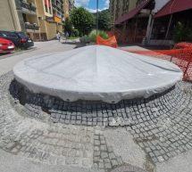 Obnovljena podoba fontane na ulici Sallaumines