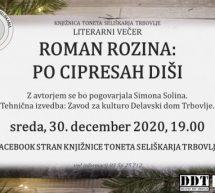 Literarni večer z Romanom Rozino