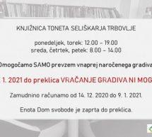 Obvestilo Knjižnice Trbovlje