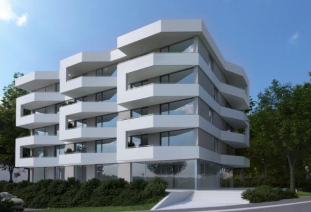 Predvidena vizualizacija večstanovanjskega bloka, ki ga bo v prihodnje zgradilo podjetje Rudis.