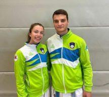 Karate – Urša Haberl in Domen Zidar na evropsko prvenstvo na Finsko